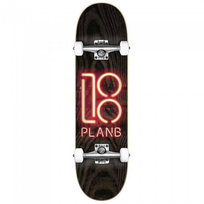 Plan B Team Neon Sign Factory Complete Skateboard 8.0""