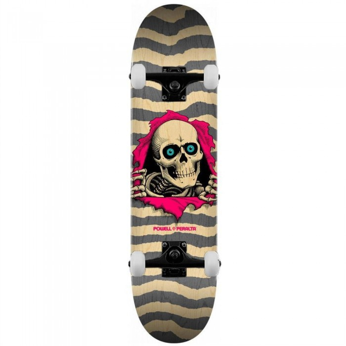 """Powell Peralta Ripper Complete Skateboard Shape 243 Natural Gray 8.25"""""""