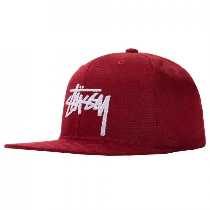 Stussy Stock Cap Snaback SU20 Berry