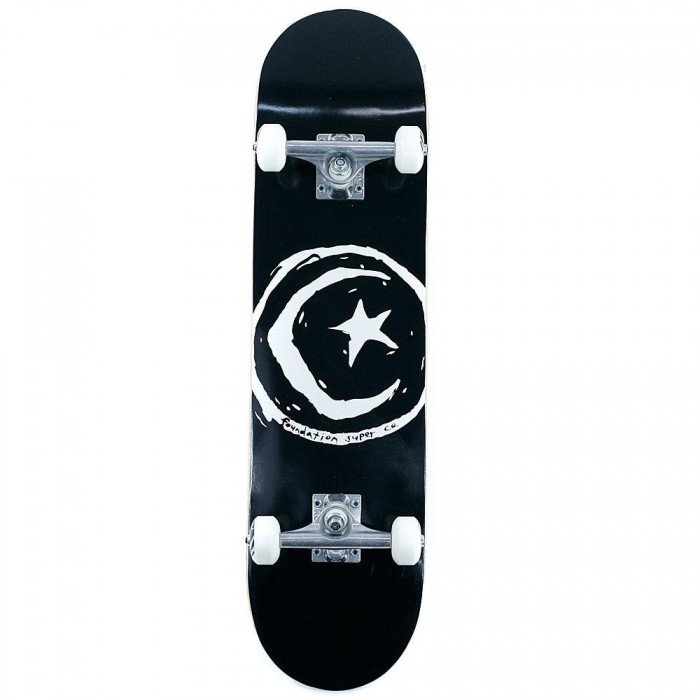 """Foundation Star And Moon Factory Complete Skateboard Black 8"""""""