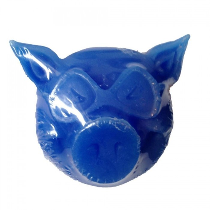 Pig Head Skateboard Wax Blue