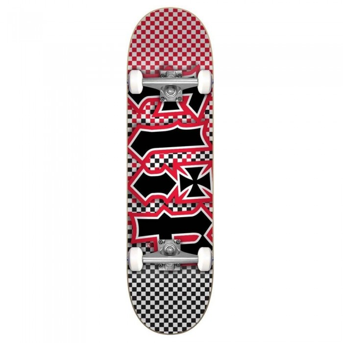 Flip HKD Fast Times Factory Complete Skateboard Red 7.87""