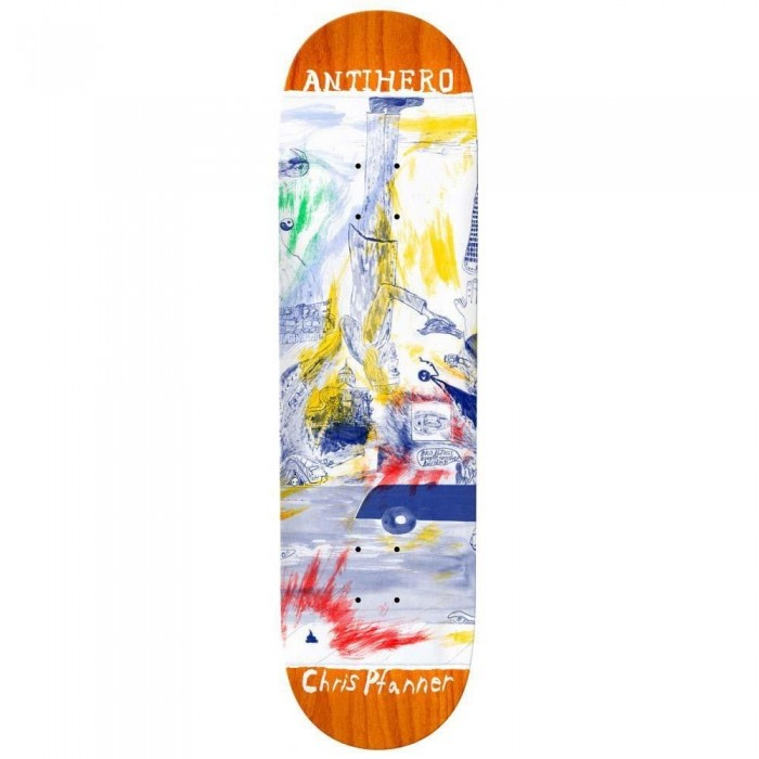 """Anti Hero Pfanner Sf Then And Now Skateboard Deck Multi 8.06"""""""