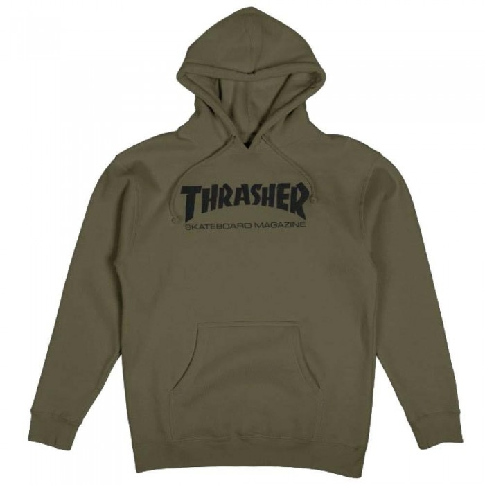 Thrasher Skate Mag Hooded Sweatshirt Army