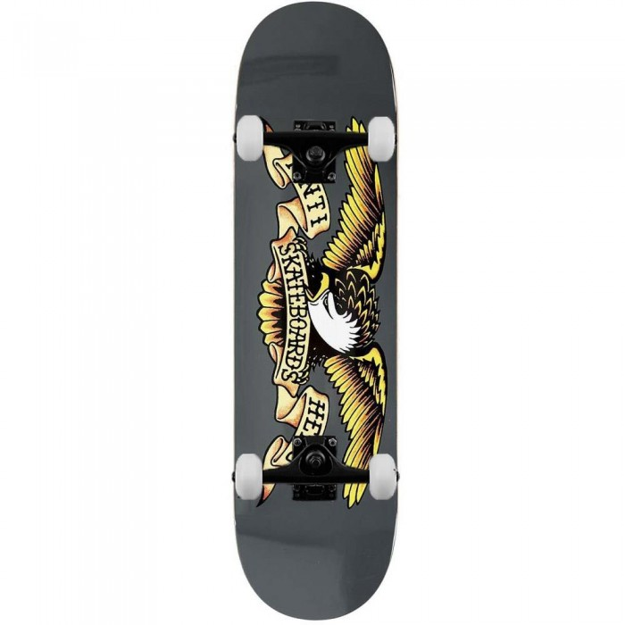 Anti Hero Classic Eagle Larger Complete Skateboard Grey 8.25""