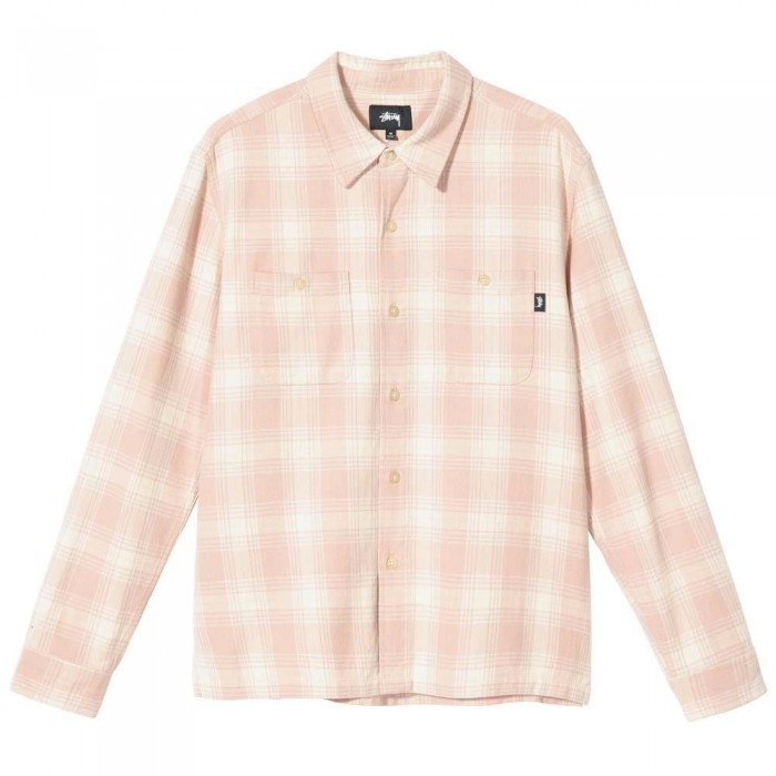 Stussy Beach Plaid Shirt Rose