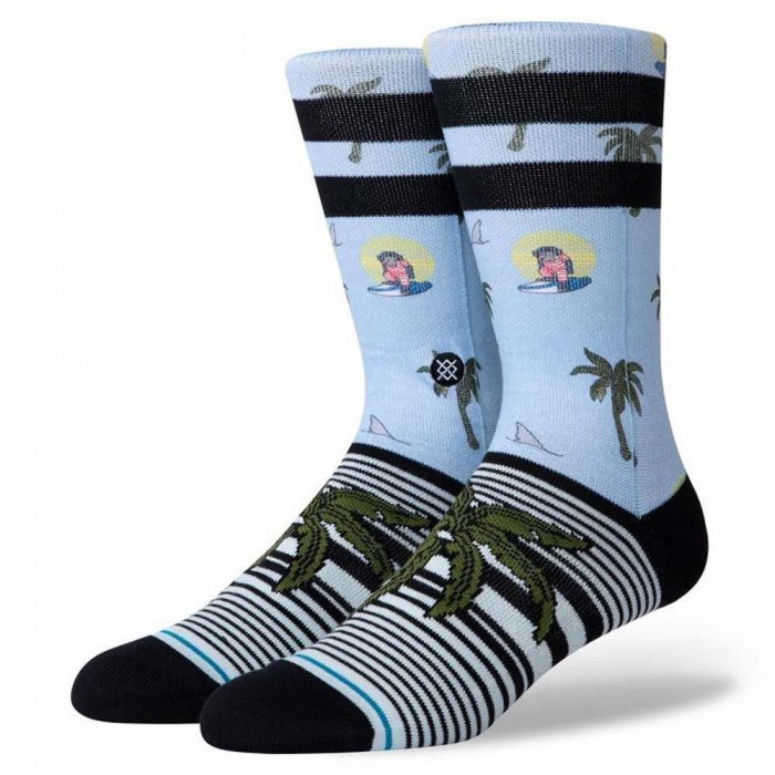 Stance Socks Aloha Monkey St Light Blue Large