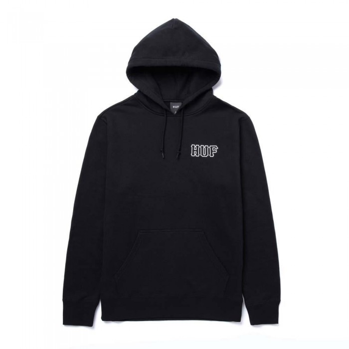 Huf Barb Wire Classic H Pullover Hooded Sweatshirt Black