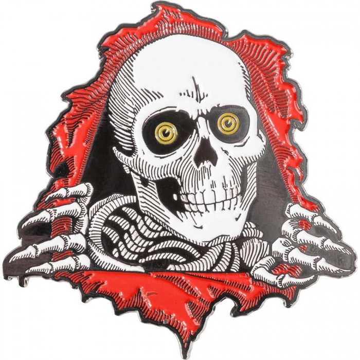Powell Peralta Pin Badge Ripper Red 2 Red