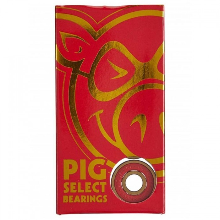 Pig Wheels Select Skateboard Bearings Red