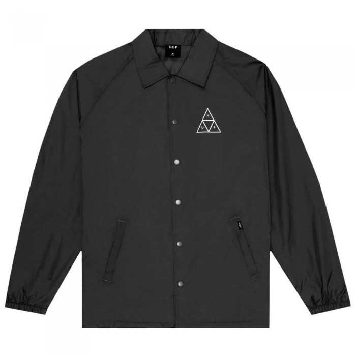 Huf Essentials Triple Triangle Coach Jacket Black