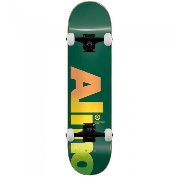 """Almost Fall Off Logo Complete Skateboard Green 8.25"""""""