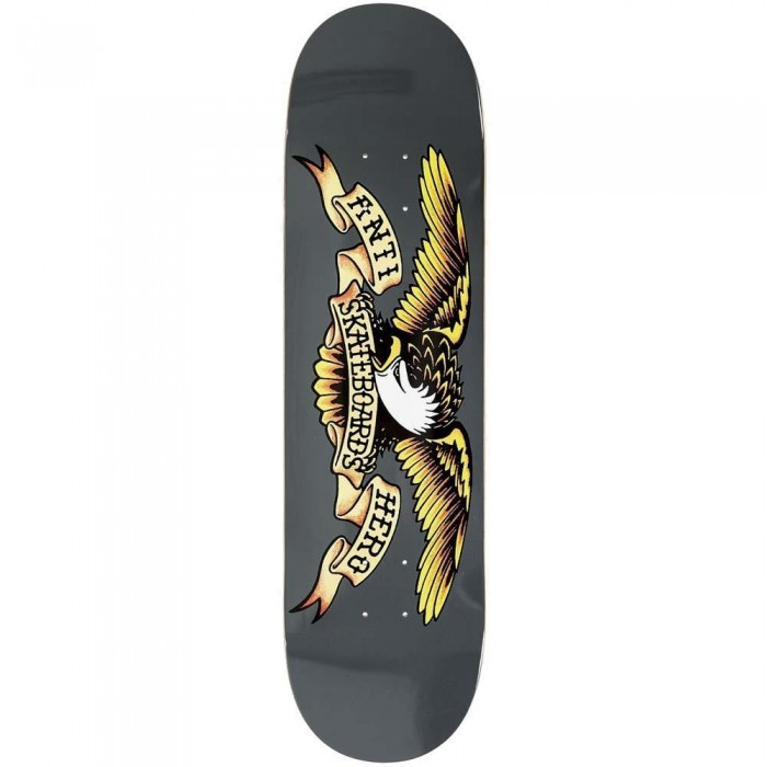 Anti Hero Classic Eagle Larger Skateboard Deck Grey 8.25""