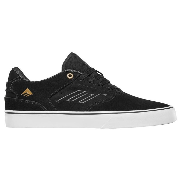 Emerica Footwear The Low Vulc Black Gold White Skate Shoes