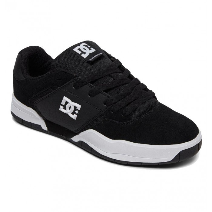 DC Shoe Co Central Black White Skate Shoes