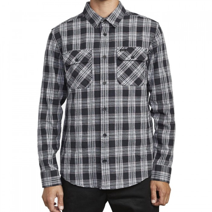 RVCA That'll Work Flannel Shirt Black