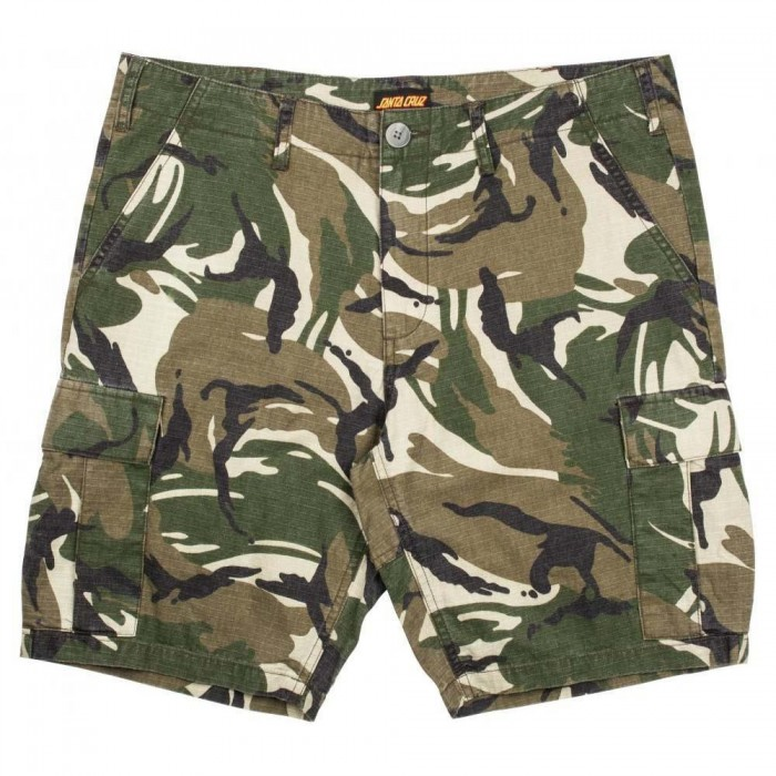 Santa Cruz Shorts Defeat Walkshort Woodland Camo
