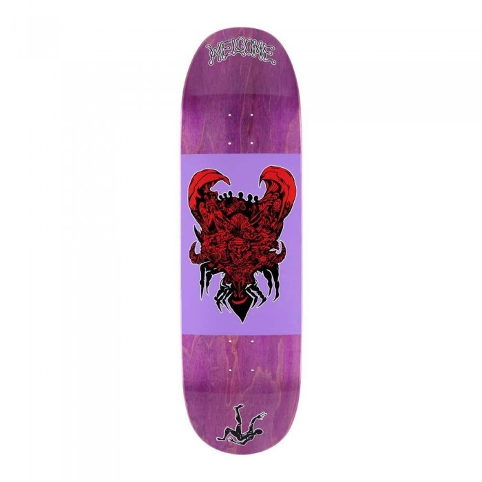 Welcome Menagerie on Baculus 2 Skateboard Deck Purple Stain 9""