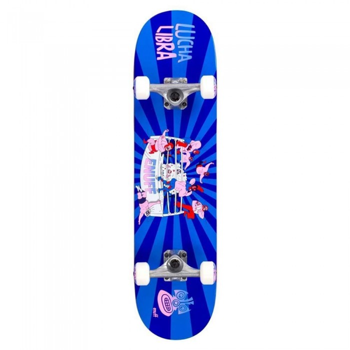 Enuff Lucha Libre Factory Complete Skateboard Blue Blue 7.75""