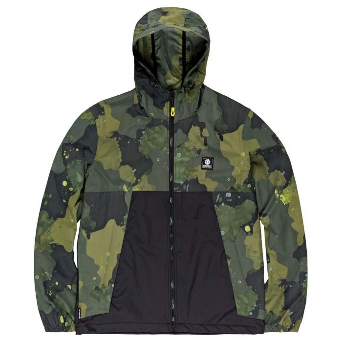Element Koto Windbreaker Jacket Paint Camo