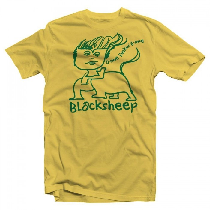 Gonz X Black Sheep Daisy T-Shirt Black Print Sketchy Skateshop Program