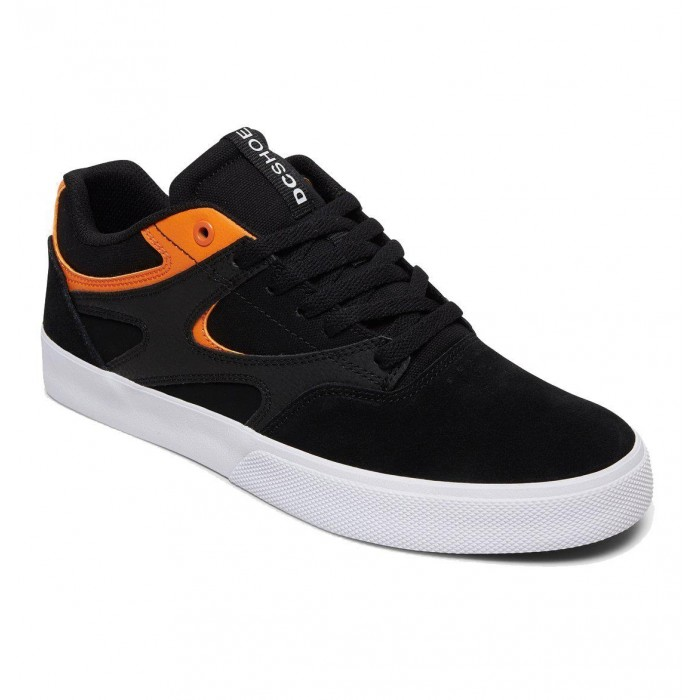 DC Shoe Co Kalis Vulc S Black Orange Skate Shoes
