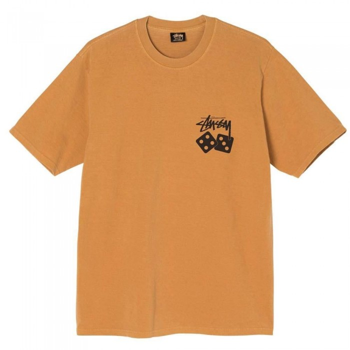 Stussy Dice Pigment Dyed T-Shirt Copper