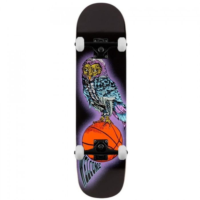 Welcome Skateboards Hooter Shooter on Bunyip Mid Complete Skateboard Black 8.25""