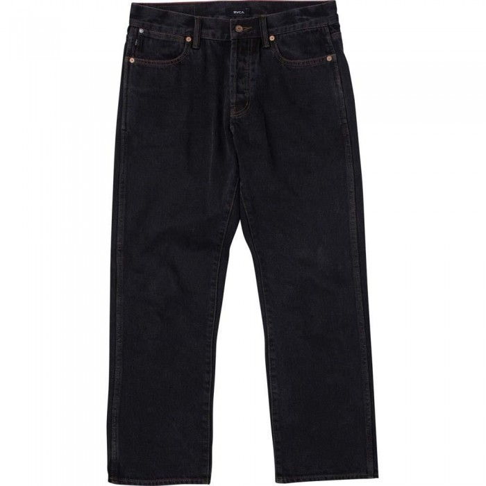 RVCA Americana Denim Pants Black Rinse
