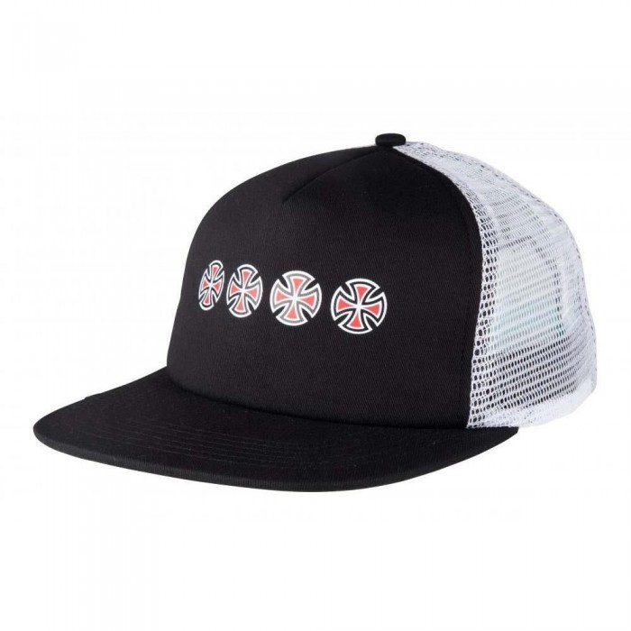 Independent Truck Co Cross Sequent Meshback Hat Black White
