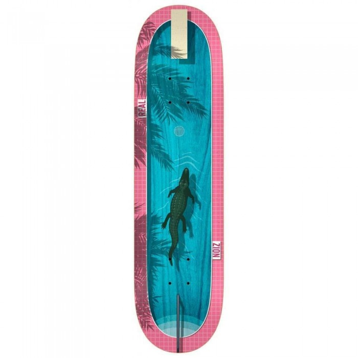 """Real Zion Dive In Skateboard Deck Blue Pink 8.5"""""""