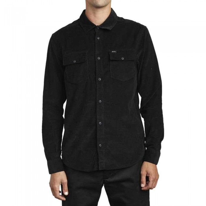 RVCA Freeman Cord Long Sleeve Shirt Black