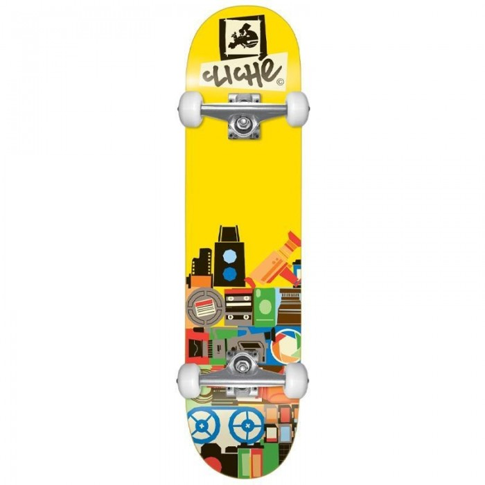 """Cliche Document Factory Complete Skateboard Yellow 8"""""""