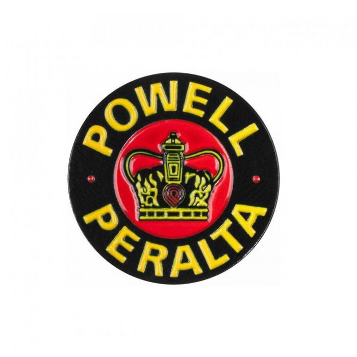 Powell Peralta Supreme Lapel Pin Badge Black Yellow