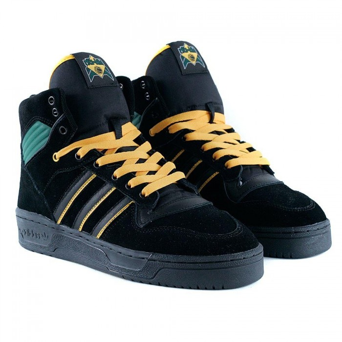 Adidas Skateboarding Rivalry Hi OG x Na-Kel Core Black Collegiate Gold Green Skate Shoes
