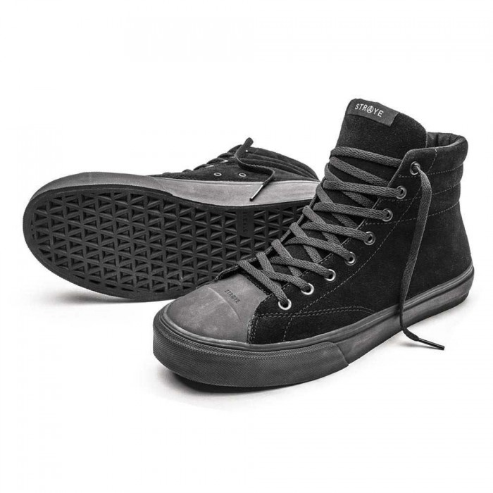 Straye Footwear Venice Suede Black Black Skate Shoes