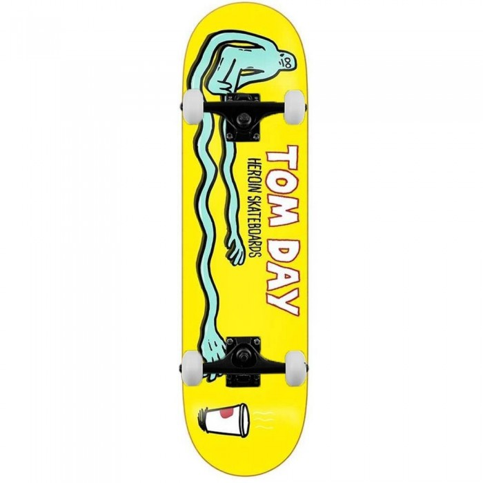 Heroin Skateboards Tom Day Strech Complete Skateboard Yellow 8.5""