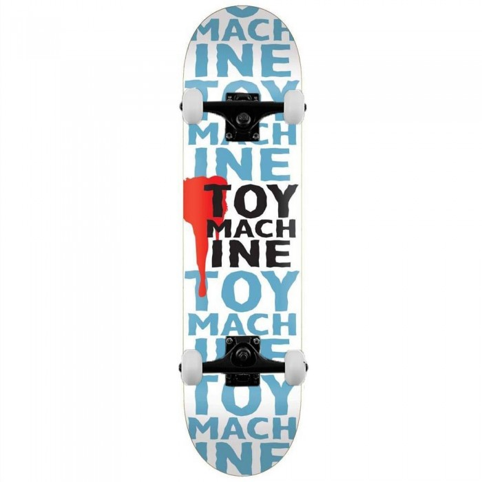 Toy Machine New Blood Complete Skateboard White 7.63""