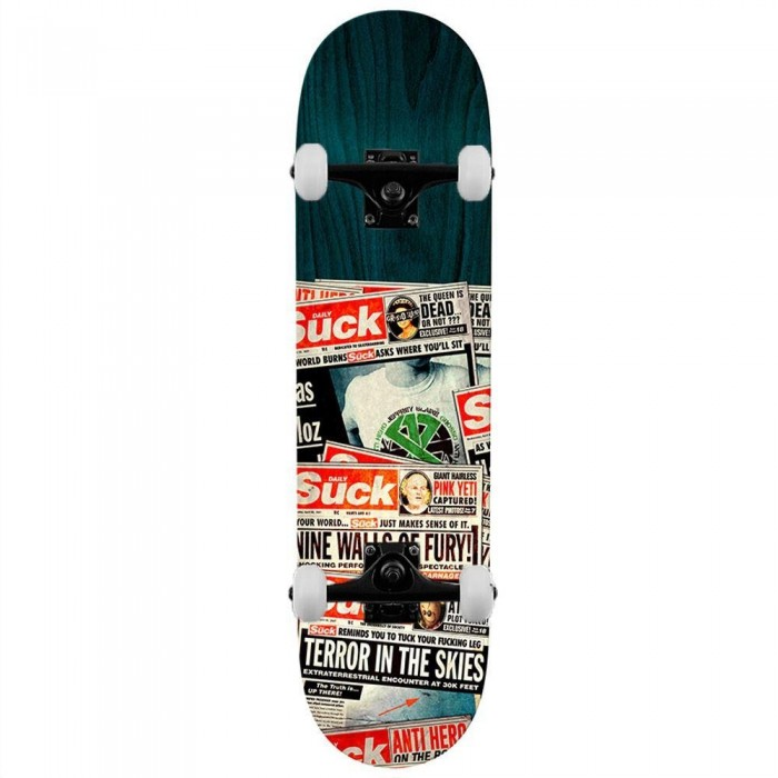 """Anti Hero Deck Grosso The Daily Suck Complete Skateboard 8.4"""" woodstains will vary"""