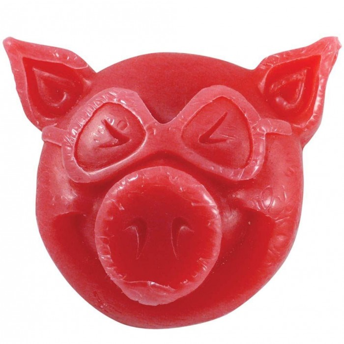 Pig Pig Head Skateboard Wax Red