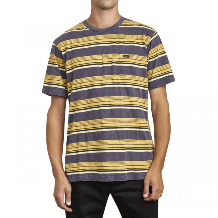 RVCA Ventura Stripe Short Sleeve T-Shirt Moody Blue