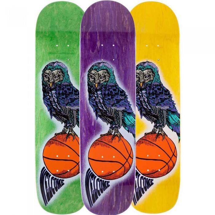 """Welcome Hooter Shooter Skateboard Deck Bunyip Multi 8"""" STAIN WILL VARY"""