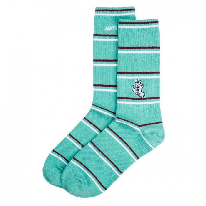 Santa Cruz Socks Mini Outline Hand Sock Mint Adult