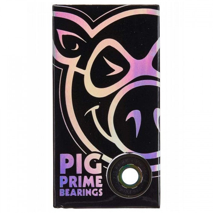 Pig Wheels Prime Skateboard Bearings Black