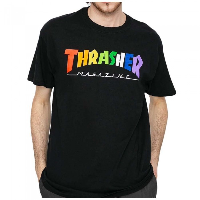 Thrasher Magazine Rainbow Mag T-Shirt Black