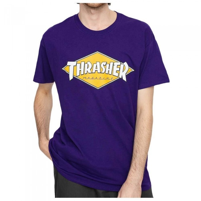 Thrasher Magazine Diamond Logo T-Shirt Purple