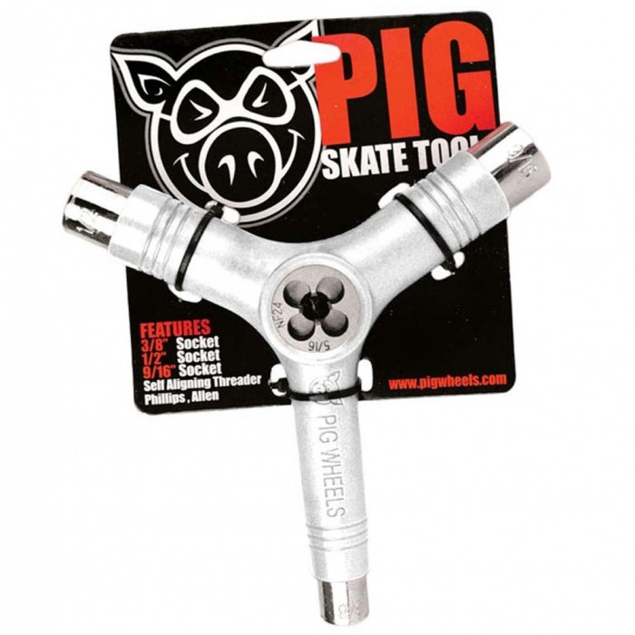 Pig Skateboard Tool Solid White