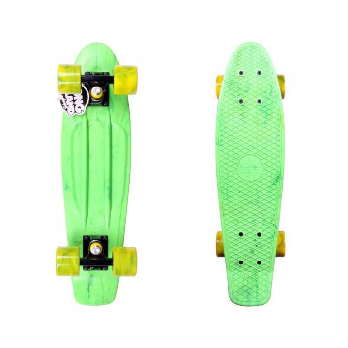 "Long Island Plastic Buddy Cruiser Factory Complete Skateboard Ice Green Multi 22.5"" x 6"""