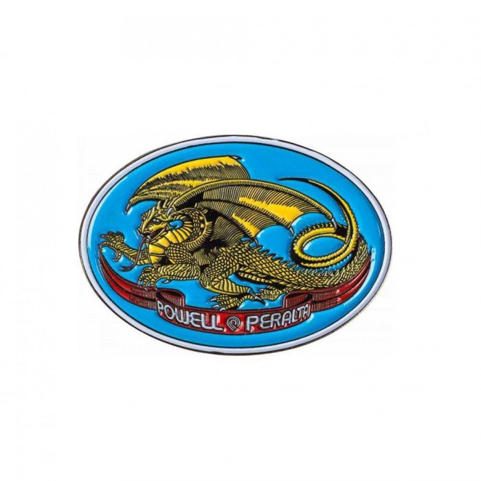 Powell Peralta Oval Dragon Lapel Pin Badge Blue