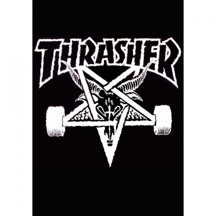 Thrasher Magazine Skategoat Blanket Cover Black White 60""